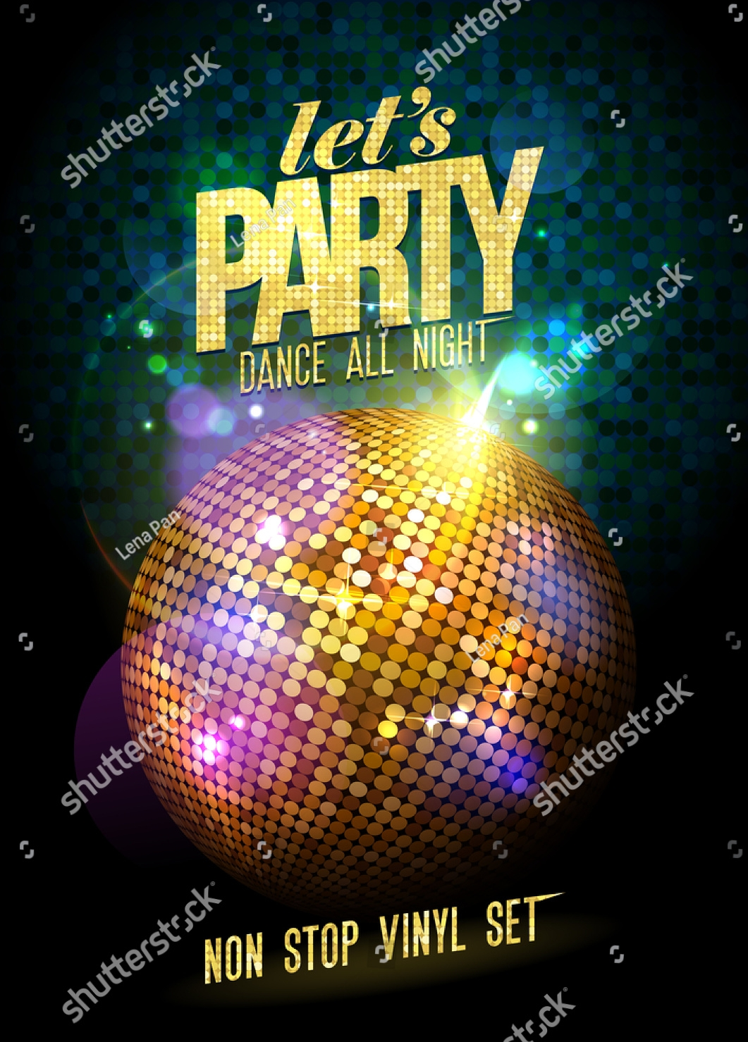 ball dance party invitation