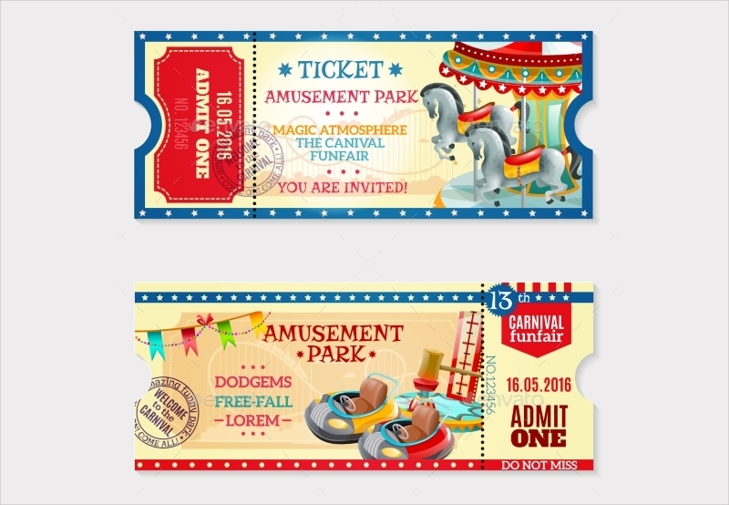 ballon carnival ticket invitation