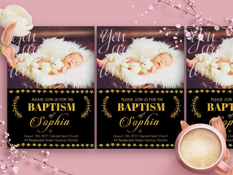 baptism shower invitation
