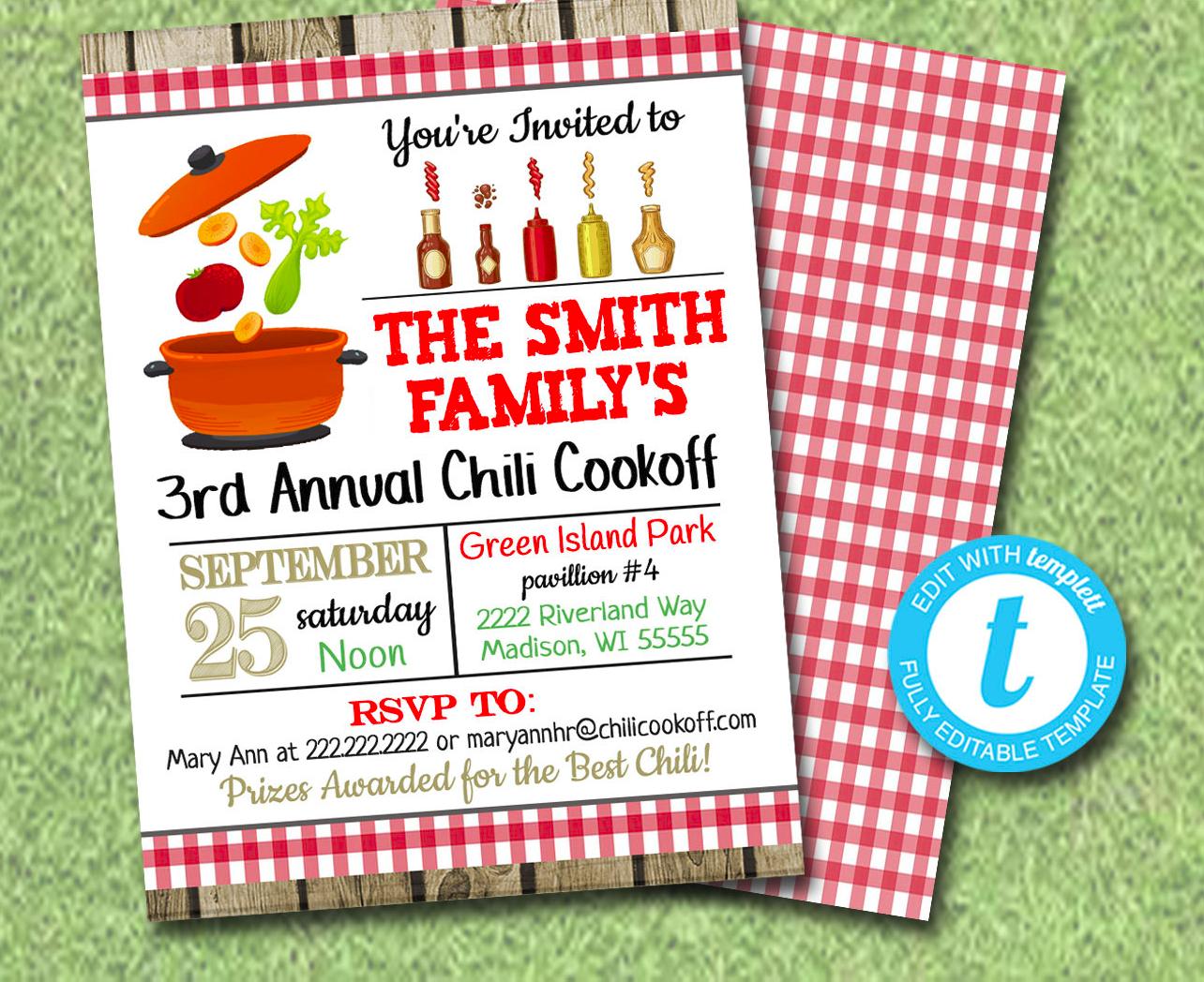 barbecue fundraising invitation