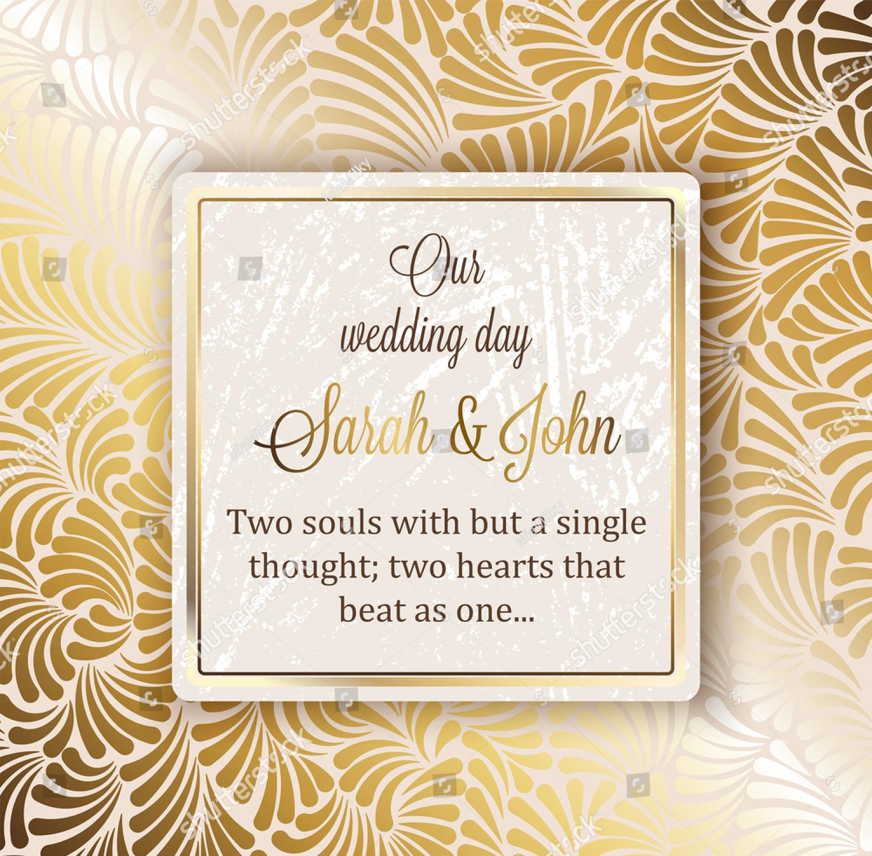 baroque luxury wedding invitation card design