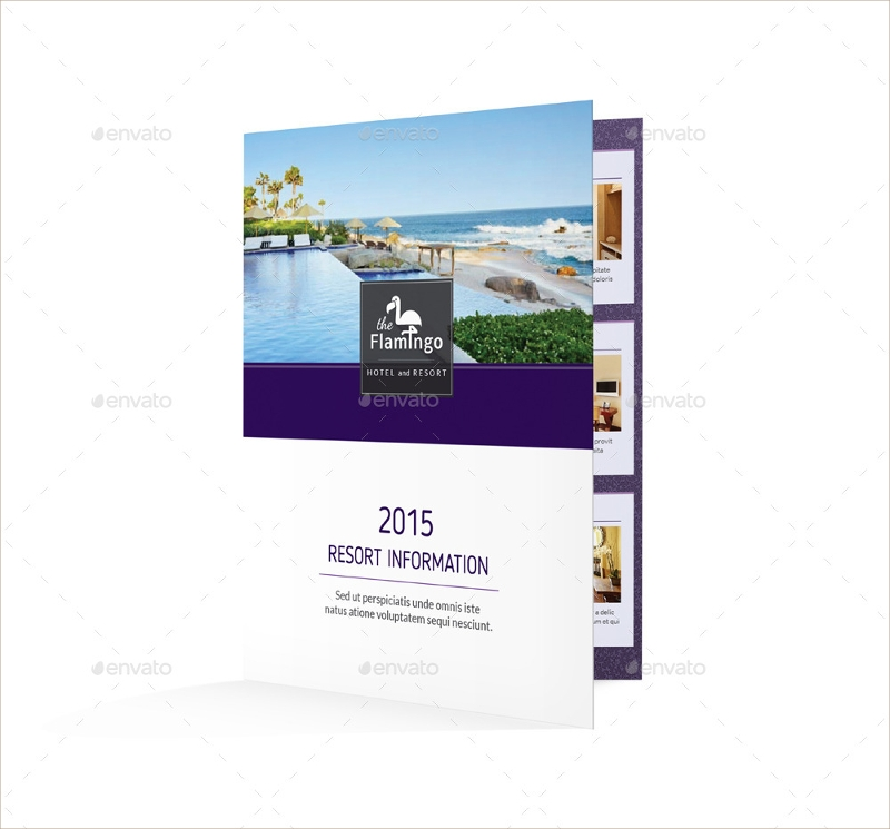 beach resort bifold brochure