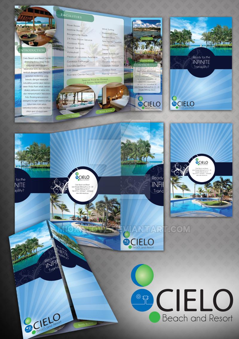 beach resort brochure design