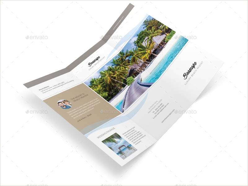 beach resort trifold brochure1