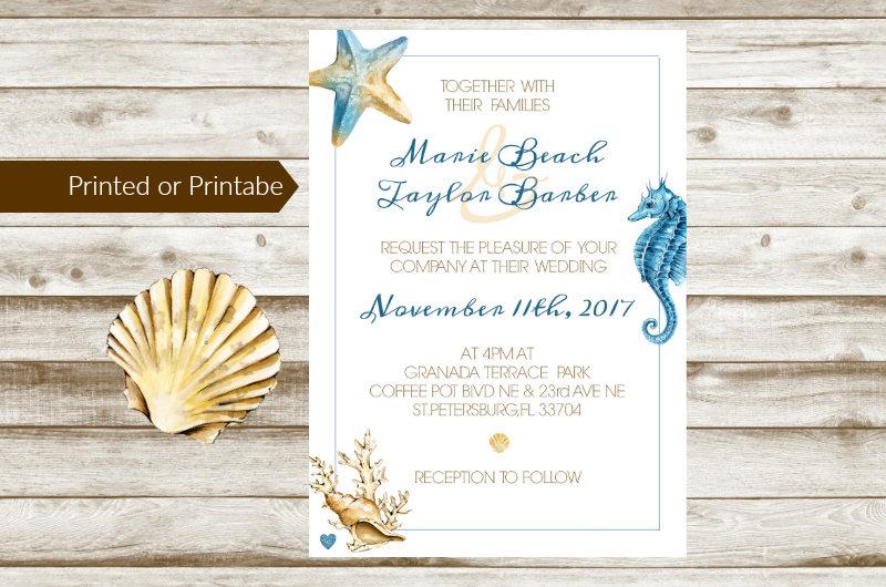 beach wedding anniversary invitation