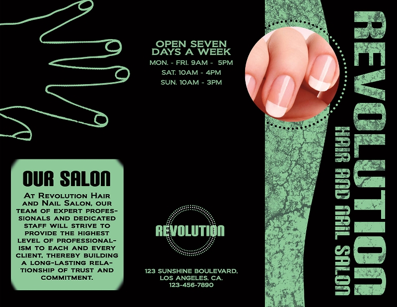 beauty nail salon brochure