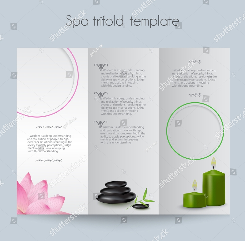 beauty spa salon tri fold brochure