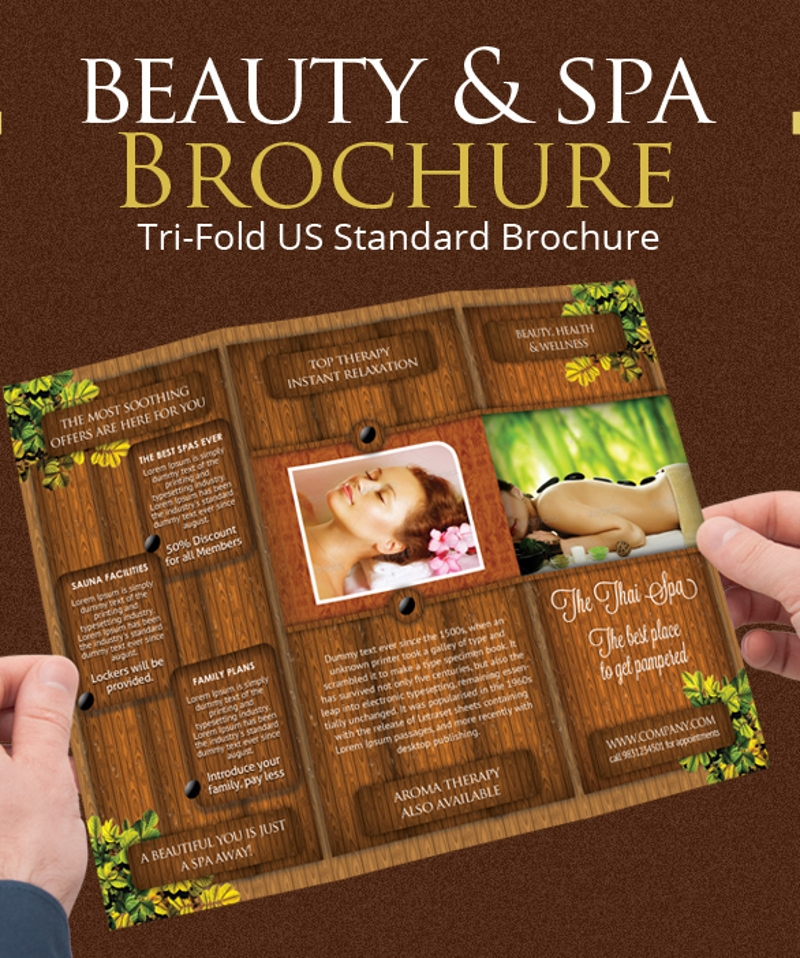 beauty spa trifold brochure1