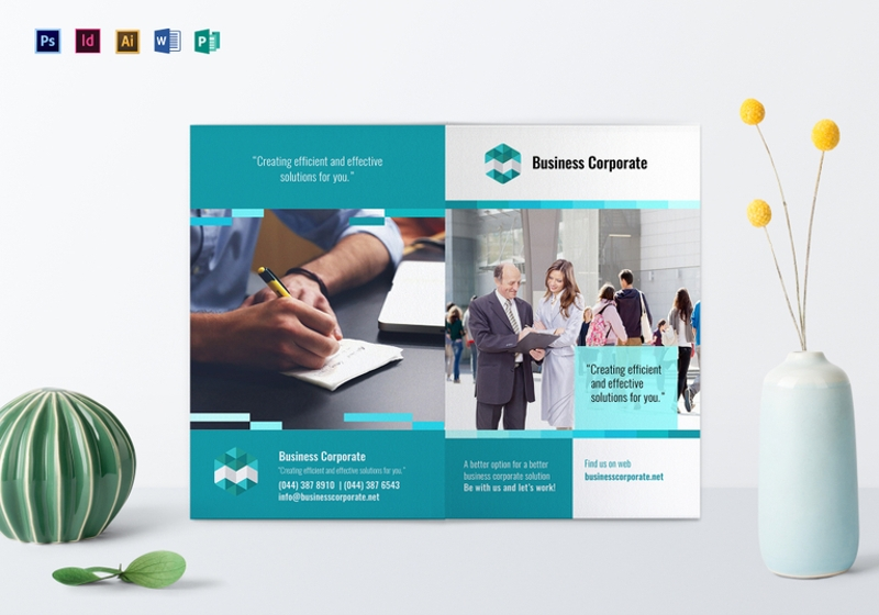 bi fold business corporate brochure template1