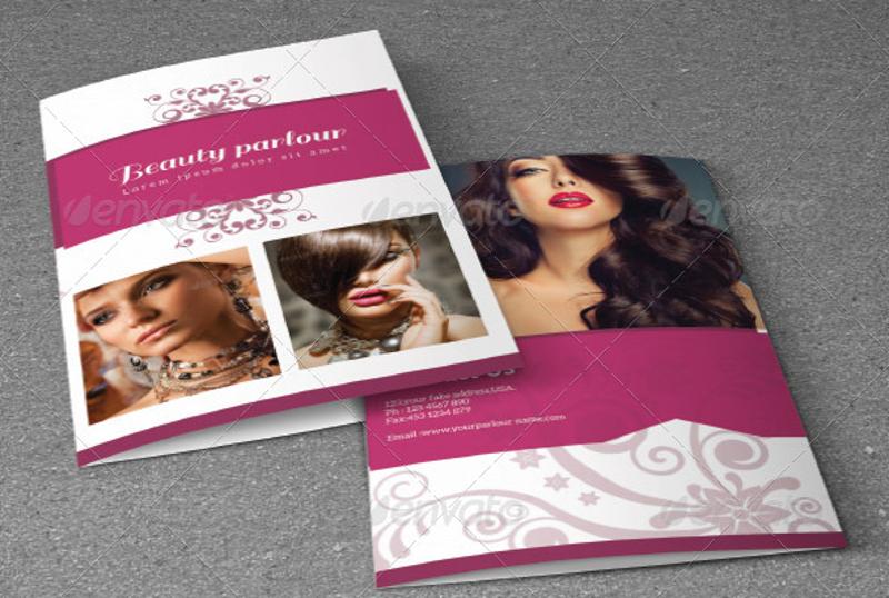 bifold beauty salon brochure