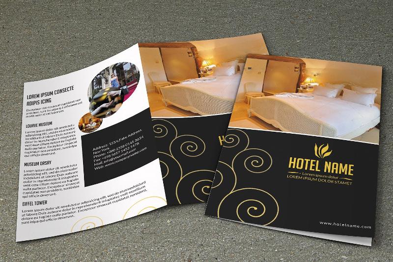 bifold hotel brochure