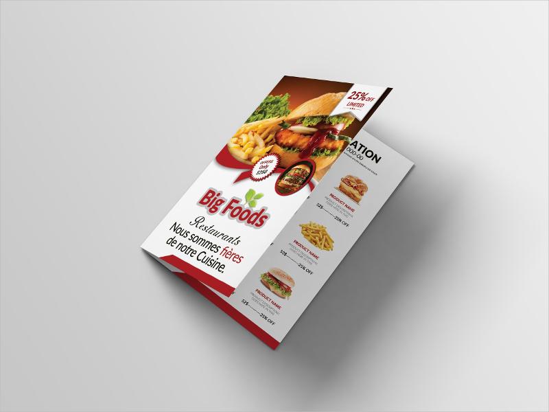 bifold menu card design