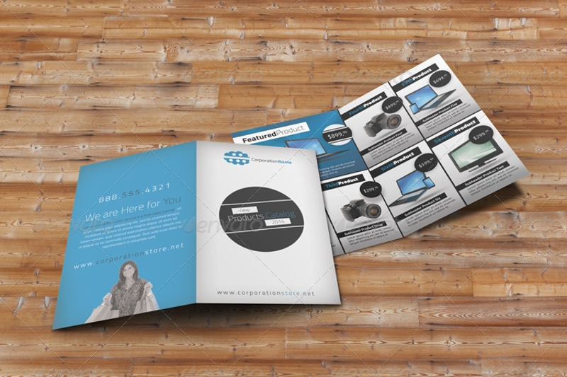 bifold product brochure design
