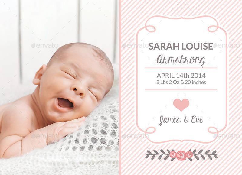 birth announcement invitation template