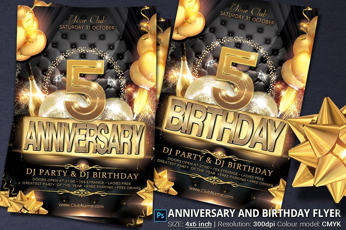 birthday anniversary party invitation