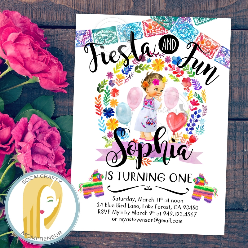 birthday fiesta invitation