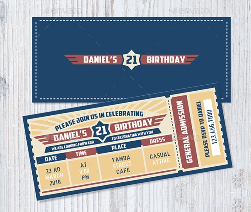 9+ Invitation Ticket Designs & Examples - PSD, AI, Vector EPS