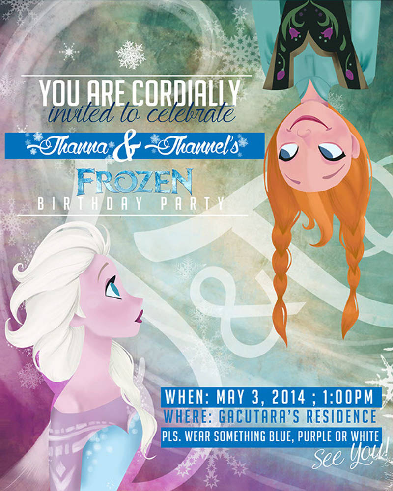 birthday party invitation for frozen