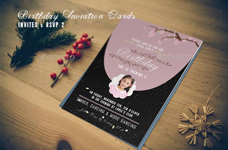 birthday rsvp invitation card