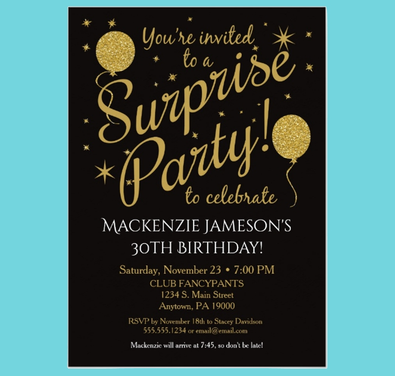 15 surprise party invitation designs and examples psd ai birthday surprise party invitation stopboris Image collections