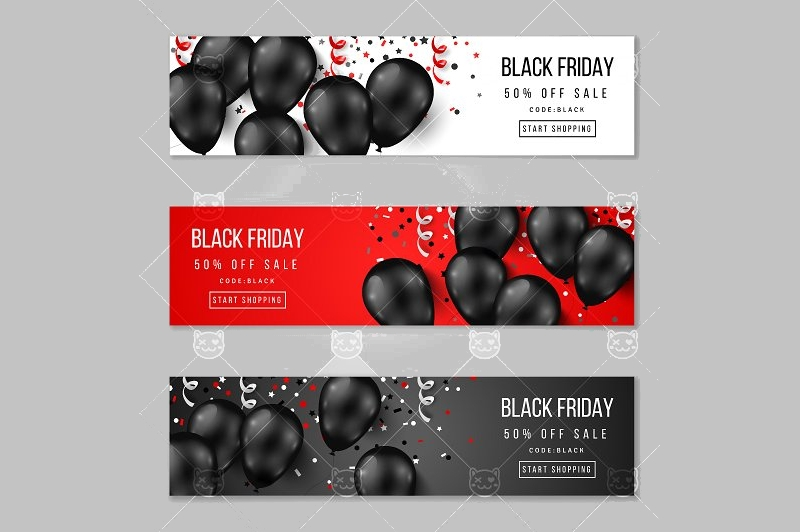 black friday horizontal banners