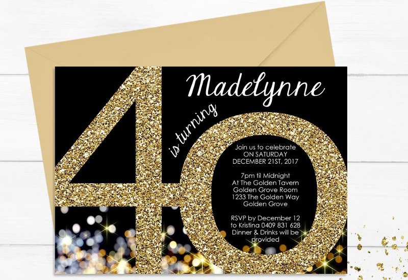 Free 13 Black And Gold Birthday Invitation Designs Examples In