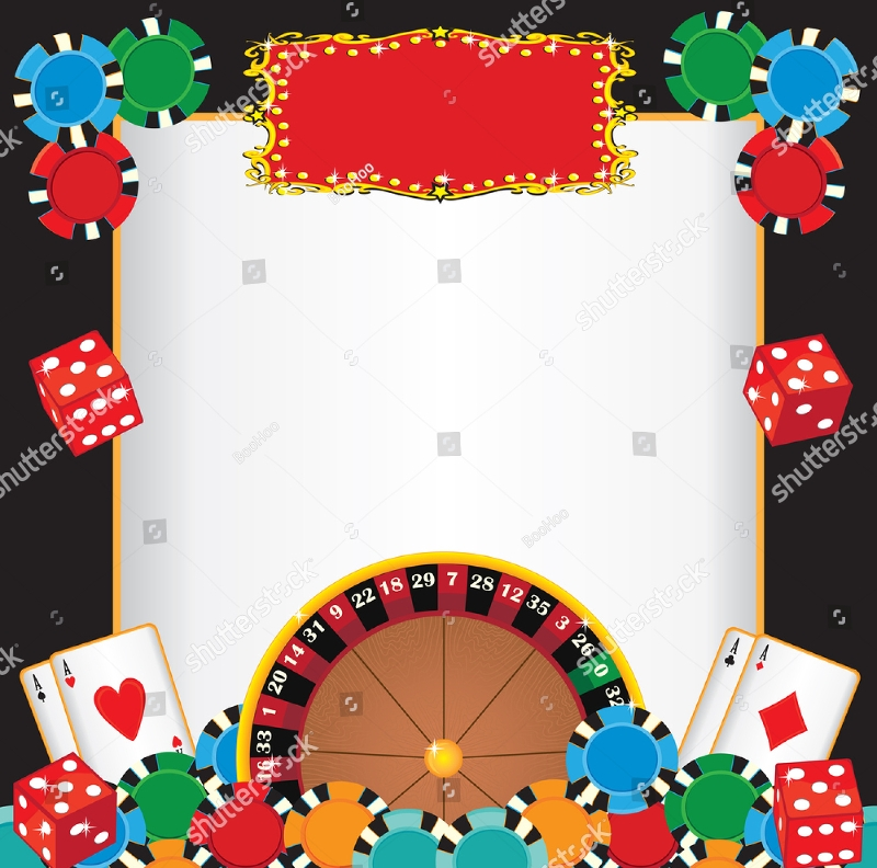 blank casino night party event invitation