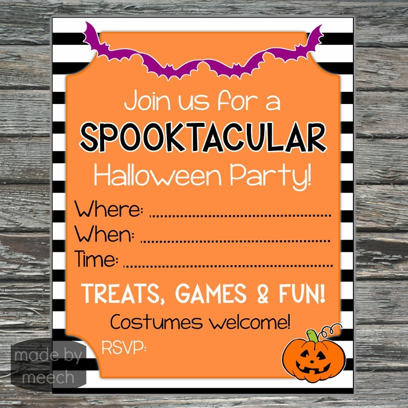 blank halloween party invitation