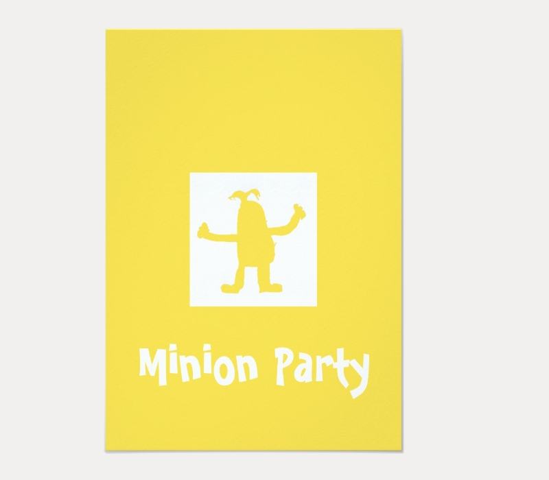 blank minion party invitation