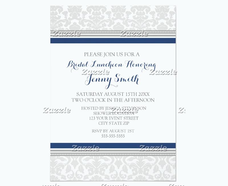 blue gray bridal lunch invitation card1
