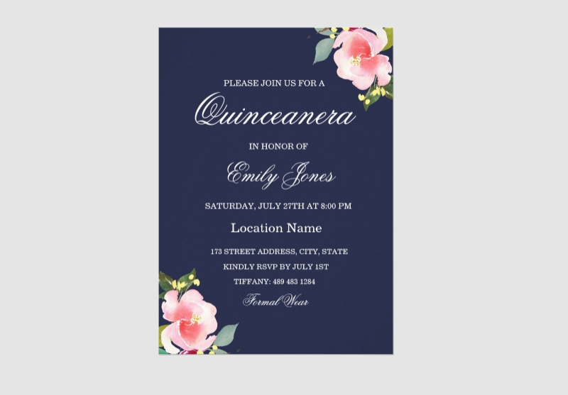 blue quinceanera invitation1