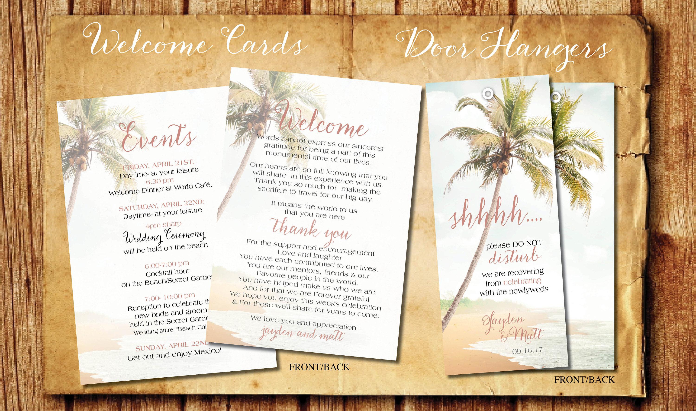 blush beach wedding invitation