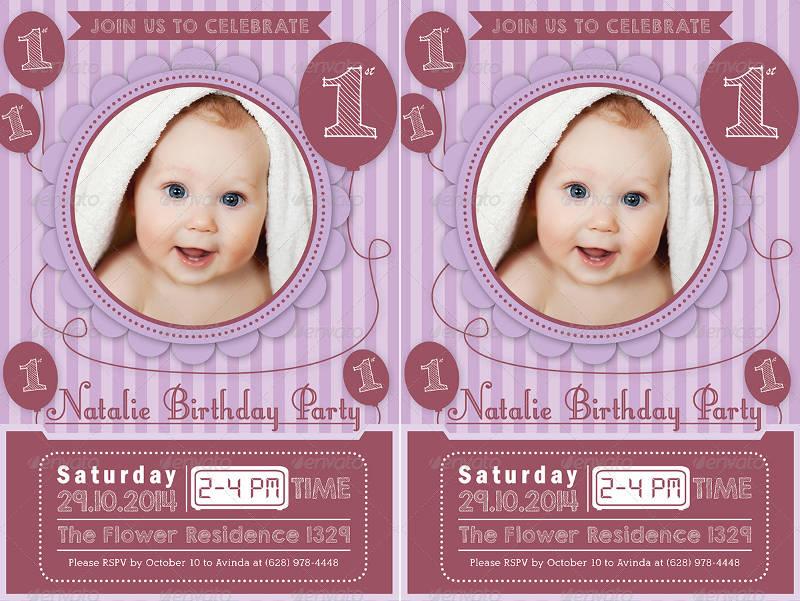 boy 1st birthday celebration invitation