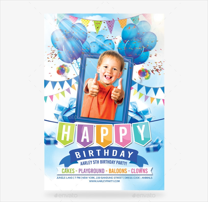 boy birthday party invitation