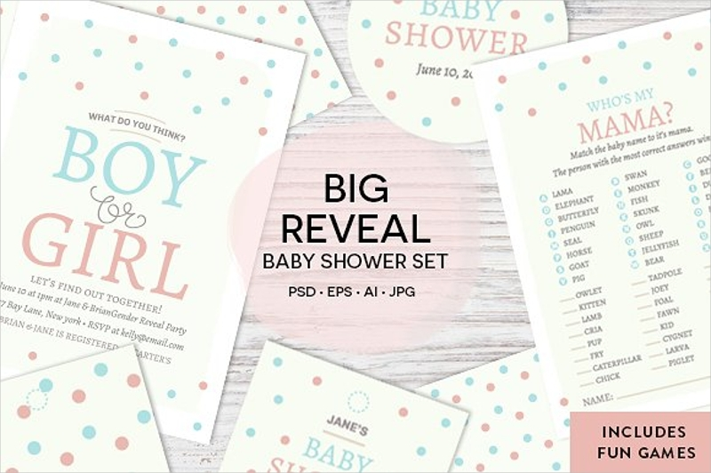 boy or girl baby shower invitation
