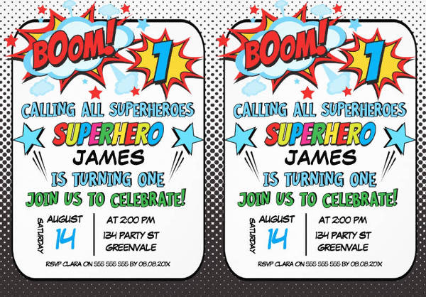 boys superhero 1st birthday invitation3