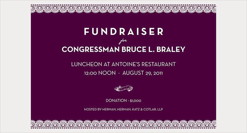 braley fundraiser invitation