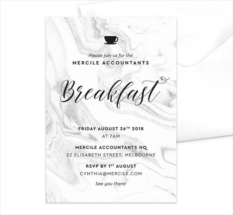 breakfast meeting invitation template