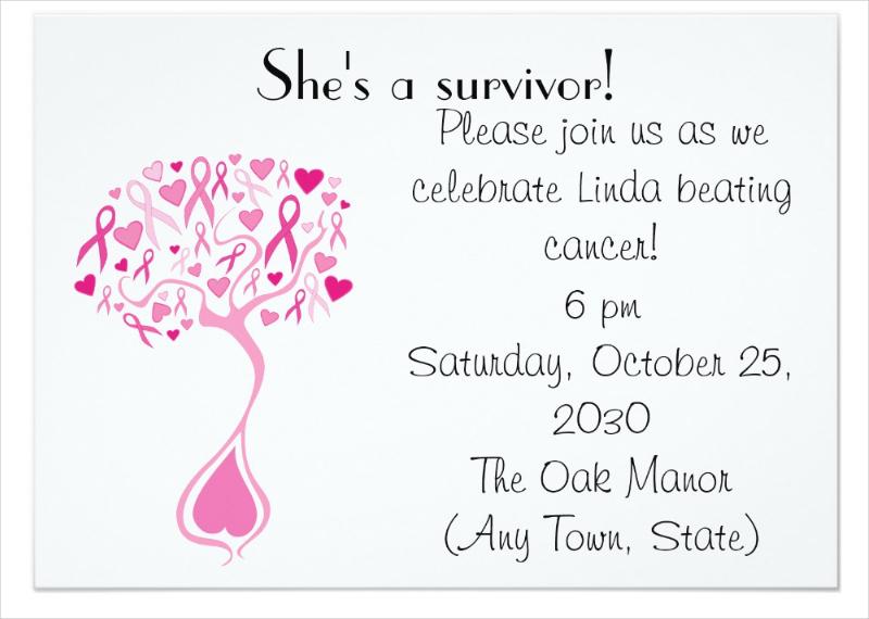breast cancer fundraiser invitation