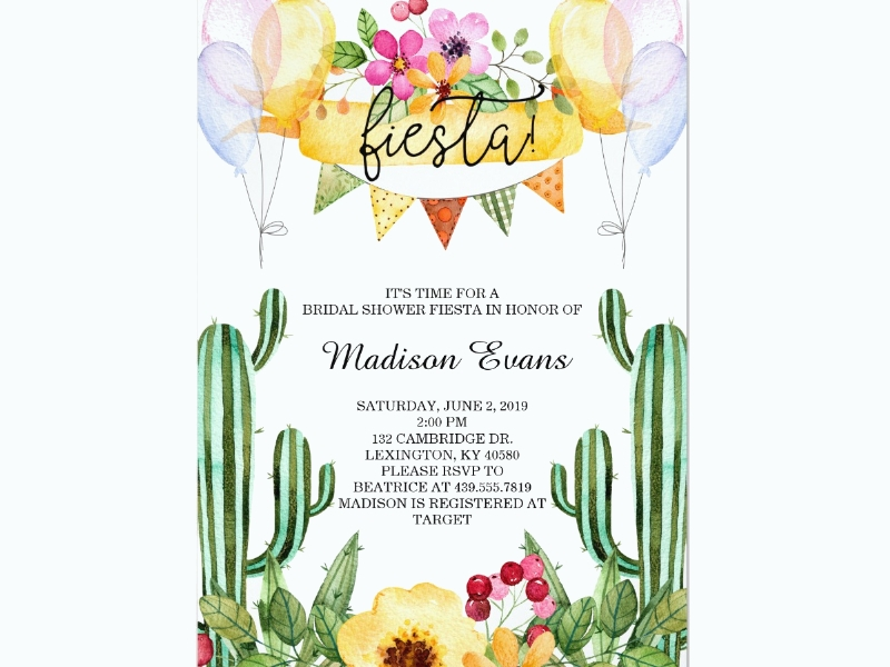 bridal shower fiesta invitation1
