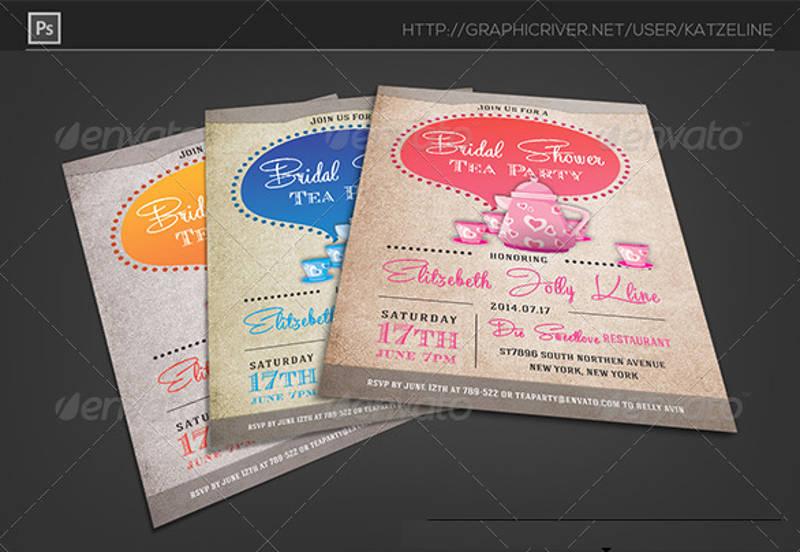 bridal shower tea party invitation2