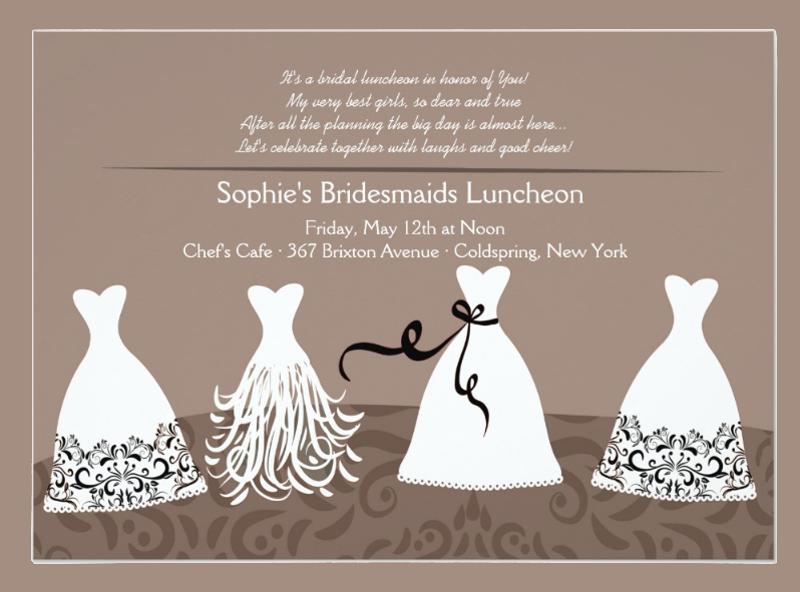 bridesmaids lunch invitation