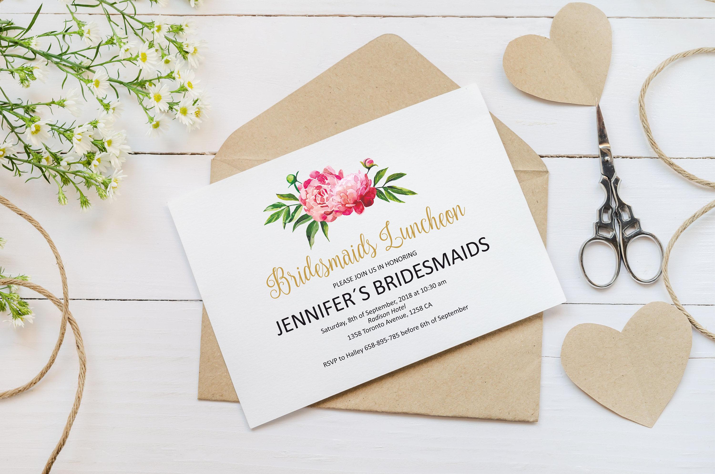 bridesmaids luncheon invitation