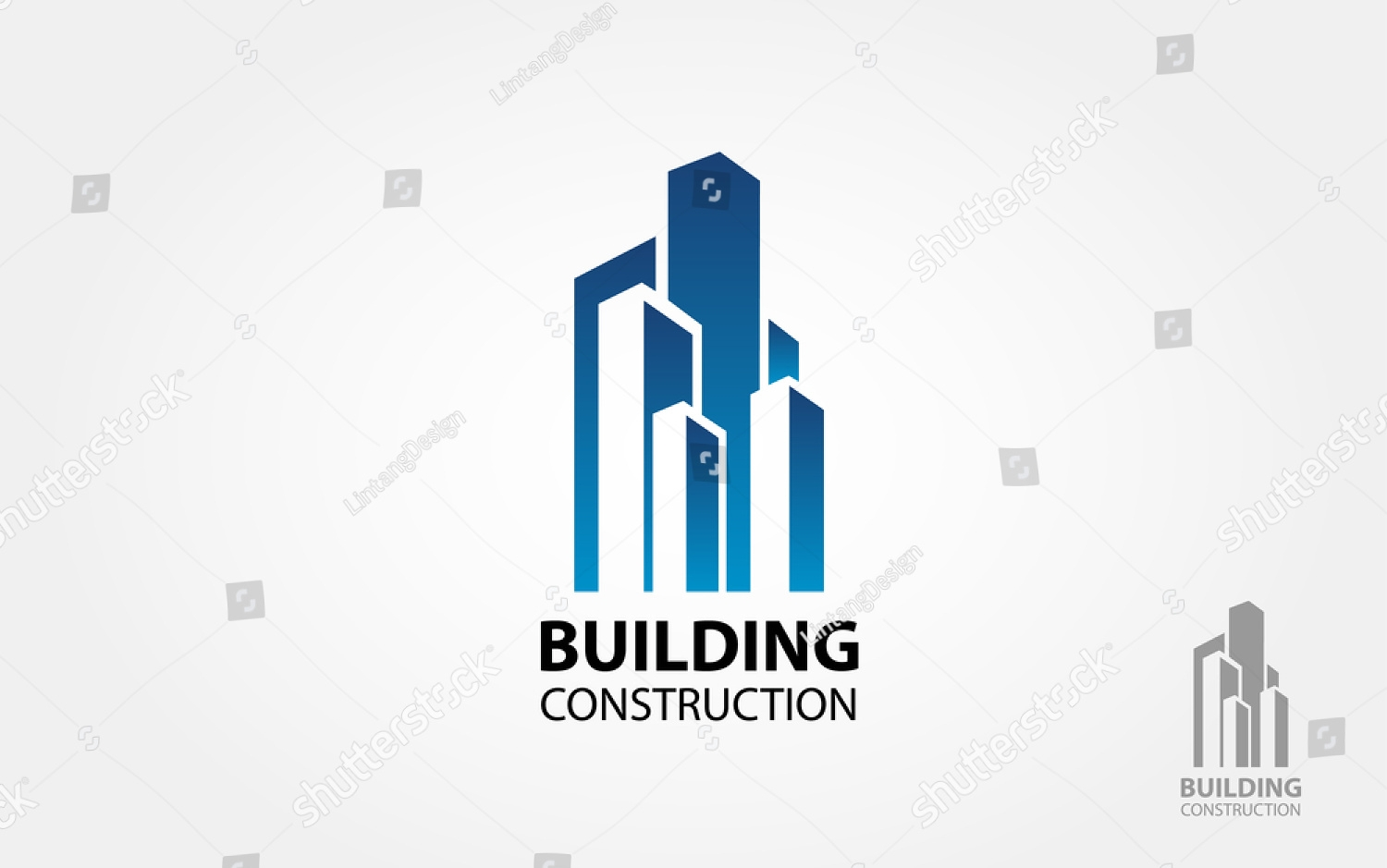 building construction vector logo