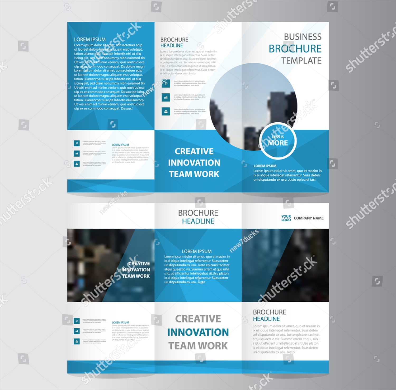 business brochure trifold template