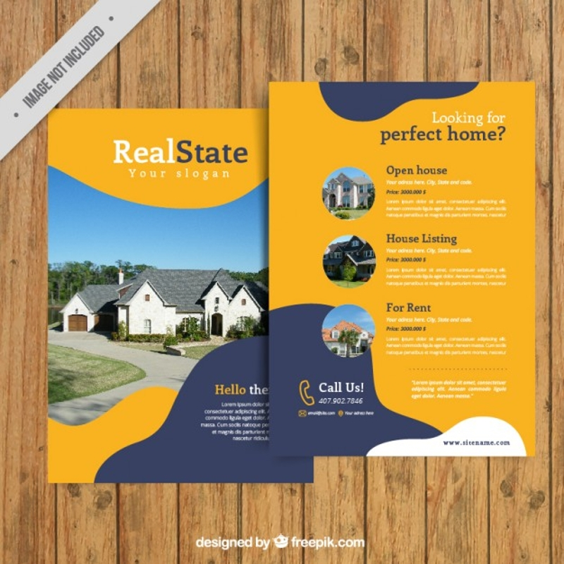 business real estate agency brochure