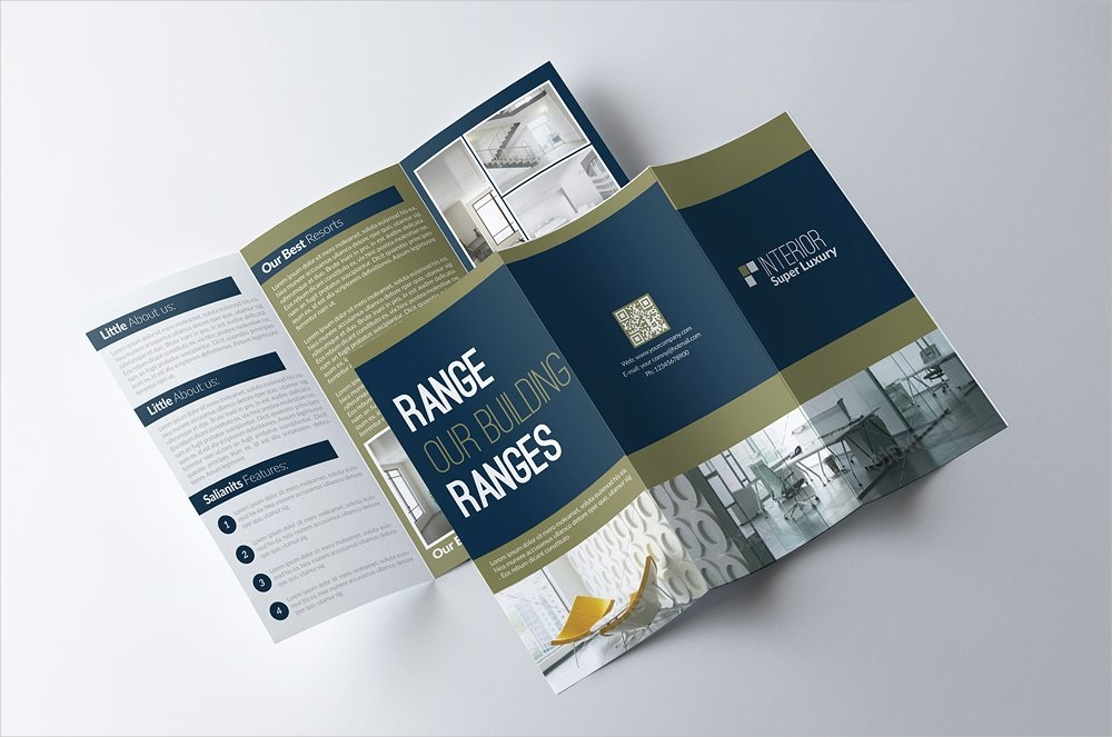 business tri fold brochure