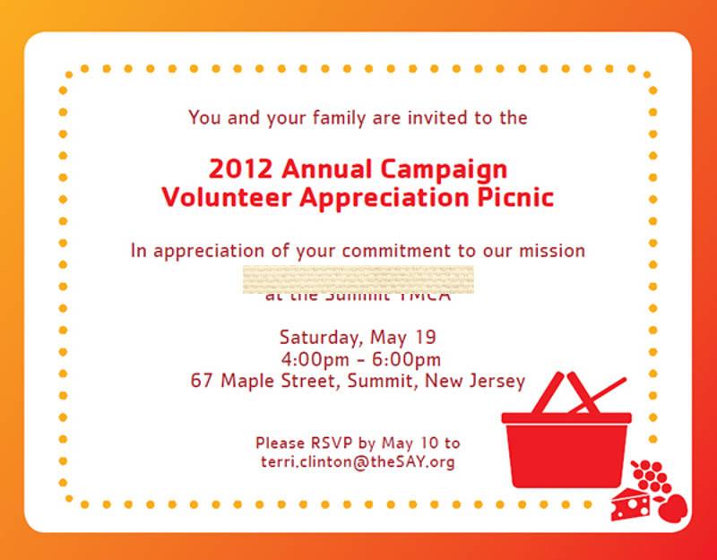 campaign picnic invitation