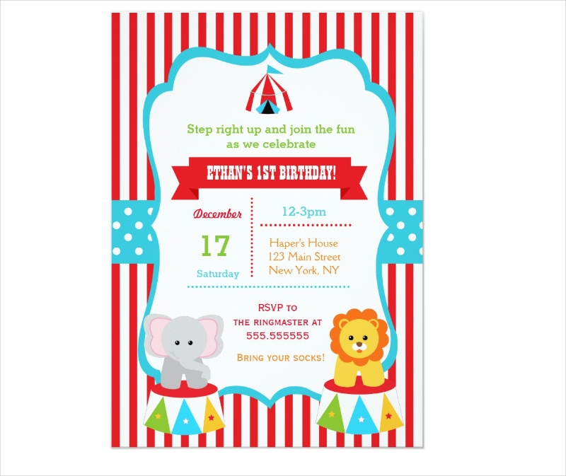 carnival birthday party invitation1
