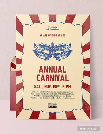 Free 16 Carnival Party Invitation Designs Examples In